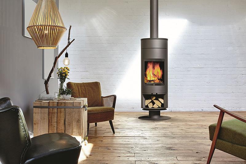 Flam Houtkachel Voorzet Rondo 130 Verhoogde voet + houtnis
