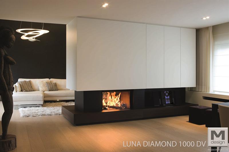 M-Design Houtkachel Inbouw Luna Diamond 1000 DV