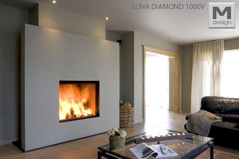 M-Design Houtkachel Inbouw Luna Diamond 1000 V
