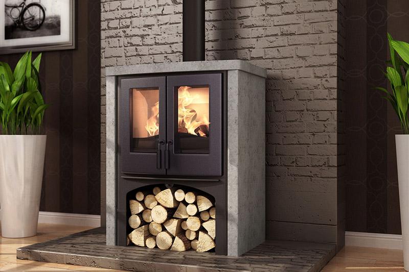 Nordic Fire Houtkachel Vrijstaand Lodge met speksteen